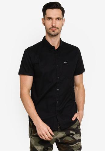 Hollister black Slim Solid Shirt 4330FAA1BE14B5GS_1