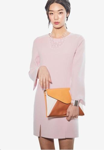 NAIN pink Slit Pencil Dress 30991AA4F4725AGS_1