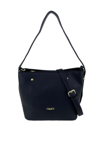 Mel&Co black Faux Leather Sling Bag 88ACAAC3328F60GS_1