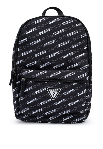 Guess black Repeat Backpack A535CAC5F103D9GS_1