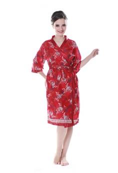 harga Batik Kimono Satin Set-Maroon Zalora.co.id