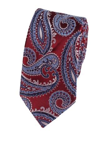 Burton Menswear London red Red Paisley Tie 21DCDAC7C9CC4EGS_1