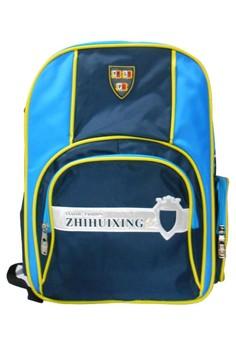 Unisex Canvas School Bag BackPack BP-43 (Blue)