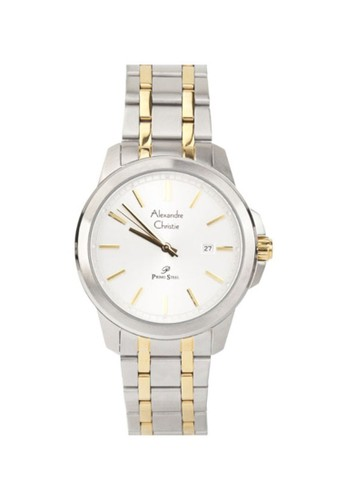 Alexandre Christie white and gold and silver Alexandre Christie AC 1017 MDBTGSL Jam Tangan Pria Stainless Steel A8393AC53EF548GS_1
