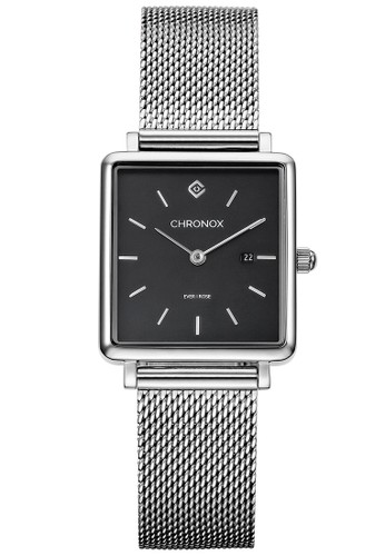 CHRONOX white CX3001/A2 - Jam Tangan Wanita CasuaL - Tali Stainless Steel White - Woman EVER Series - BLACK 12BD4ACF0AA24EGS_1