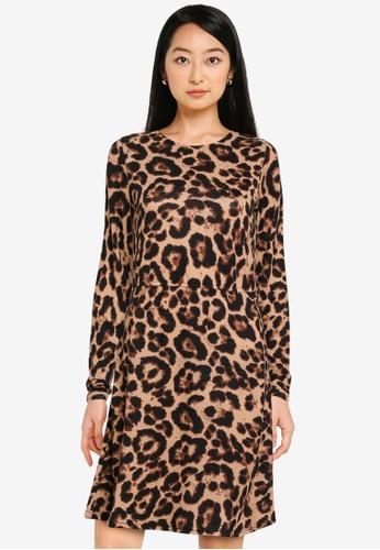 ONLY black Elcos Emma Long Sleeves Elastic Dress D1693AA55EA36DGS_1