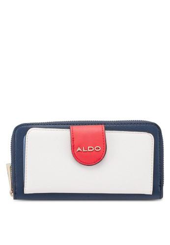 ALDO white and navy Bauladu Wallet FD977ACBC4A28FGS_1