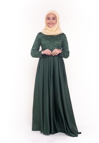 MOTHER & CHILD green Malika II Lace Dress Kids 7860CKA67C2015GS_1