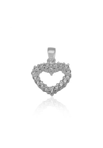 Silverworks silver Pave Open Heart Charm 1C6D7AC8A8B3B4GS_1