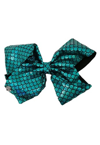 Jojo Siwa green Jojo Siwa Bow With Clip (Mermaid Turquoise) D577CKC7A00483GS_1