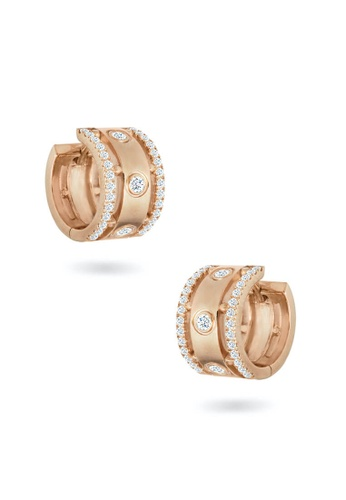 Aquae Jewels pink Earrings Rich And Bold Queen, 18K Gold And Diamonds - Rose Gold 2CB83AC542C64FGS_1