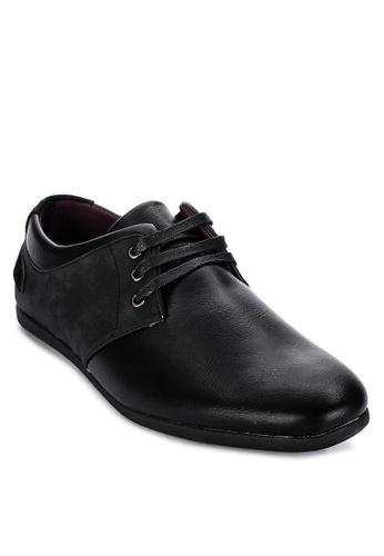 H2Ocean black Saxon Solid Tone Lace Up Shoes 251D7SH33EC721GS_1