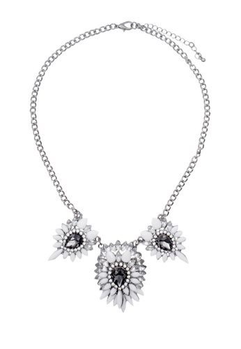 LUCCACAL silver Arley Crystal Necklace LU294AC97HLQMY_1