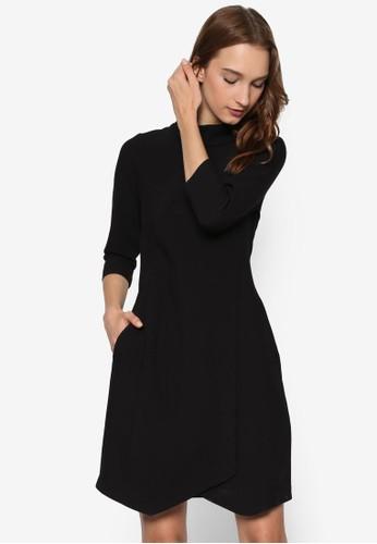 高領裹飾露背連身裙, 服飾,esprit 旺角 洋裝