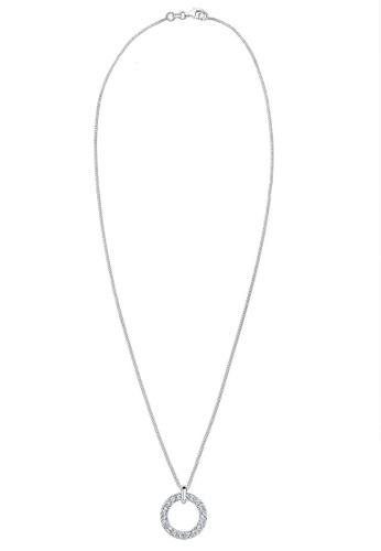 75f53c18f Elli Germany white Elli Germany Necklace Circle Swarovski® Crystal Sterling  Silver 8DA5AAC2D9912EGS_1