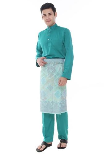Amar Amran green Baju Melayu Classic 18022AA17D431EGS_1