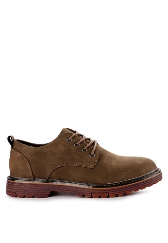 Urban State brown Lace Up Flat Casual Derby Shoes 545F4SHCEEC496GS_1