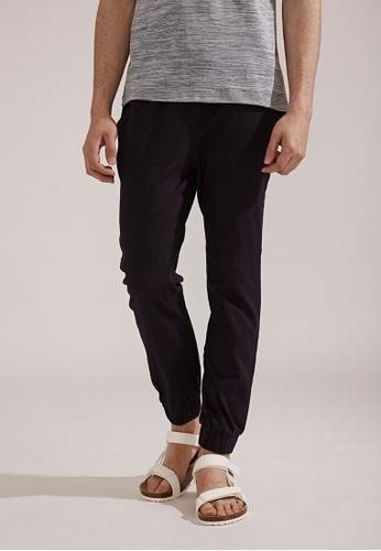 Life8 blue Classic Casual Trouser Jogger Pants-02404-Blue LI283AA0FFHGSG_1