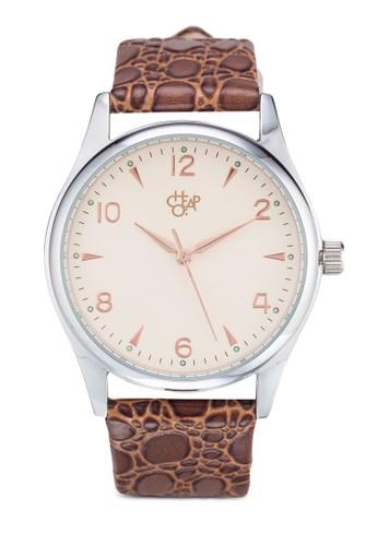 Roger esprit 眼鏡豹紋圓錶, 錶類, 飾品配件