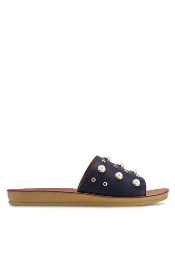 Noveni 藍色 珍珠涼鞋 FE8ADSHD1ECF53GS_1