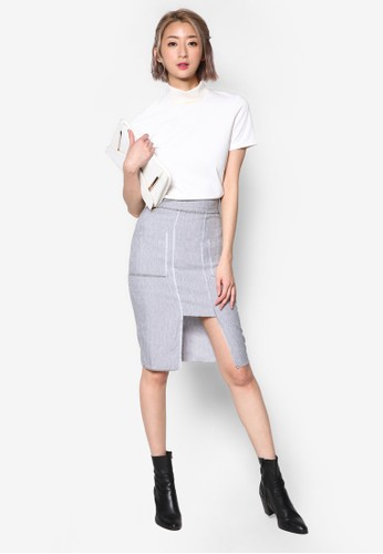 雙口袋鉛筆裙, 服飾,esprit outlet台北 裙子