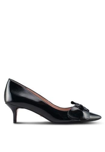 Dune London black Bow Detail Block Heel Sandals 9C1CDSH6D23810GS_1