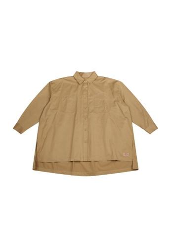 Dickies Dickies Twill Long Sleeve Shirt DK008815KHK EF38BAA825D4E4GS_1