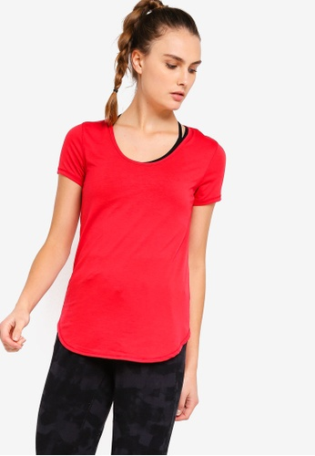 Cotton On Body red Gym T-Shirt 7925EAA3B636BCGS_1
