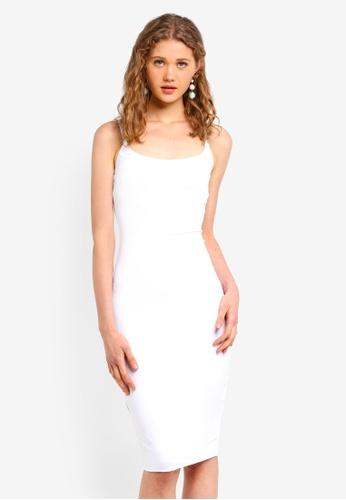 Supre white Luxe Thin Strap Midi Dress 36647AADB3FA7DGS_1