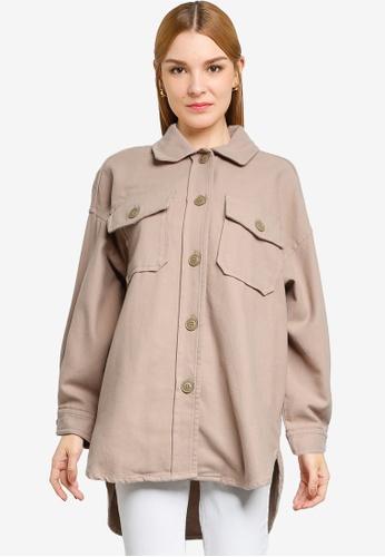 LOWRYS FARM brown Pocket Shirt 3F293AA0A6435EGS_1