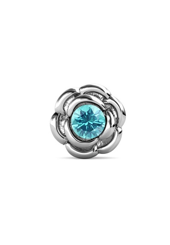 Her Jewellery silver Petunia Brooch (December, White Gold) - Made with Premium grade crystals from Austria 4C8BEAC1F3A33CGS_1