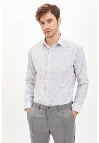 DeFacto white Man Woven Top Long Sleeve Shirt 860FBAA98D11E7GS_1