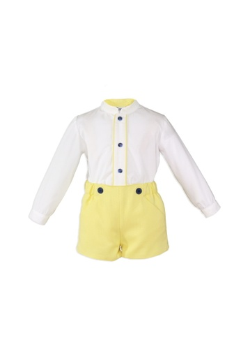 RAISING LITTLE white and yellow Francisco Outfit Set 2E94CKA5528D01GS_1