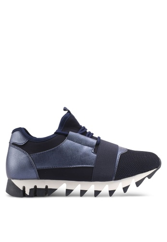 Something Borrowed navy Trainers With Jagged Sole A5F87SH7A2ABFFGS_1
