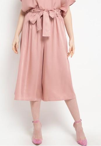 Ans.Ein pink Relax Midi Pants 1D829AADAB9F6DGS_1