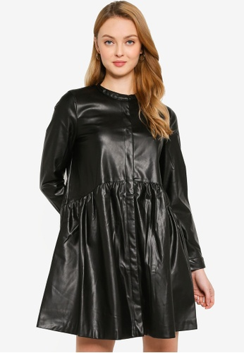 ONLY black Chicago Faux Leather Dress 2BFCEAA1B9892AGS_1