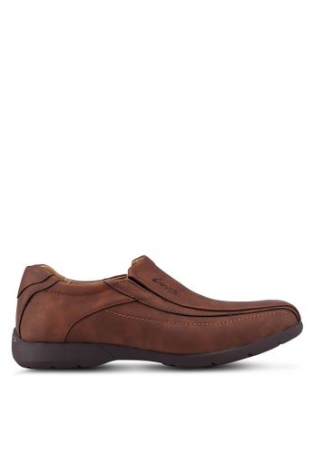 Louis Cuppers brown Paneled Slip-Ons A67ACSH8129CB2GS_1