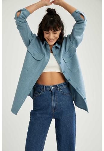 DeFacto blue Long Sleeve Shirt 96800AA9ABEE72GS_1