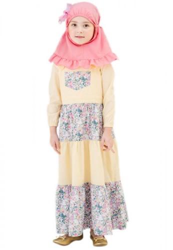Al-Qolam Hafiz Hafizah Fashion - Dress Outer Samira Blue Flower 5BAEEKA4229F1BGS_1