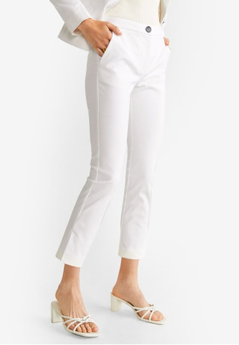 outlet store sale available wholesale price Buy Mango Straight Cotton Trousers Online | ZALORA Malaysia
