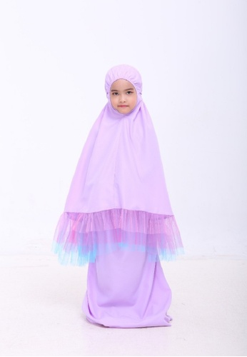 AN-NAJWA purple Annajwa Telekung Kids Tutu Unicorn Cotton A4F18KCC2966DDGS_1