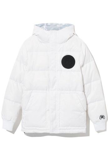 Mini cream white Reversible down jacket 9D08AAA41B61DAGS_1