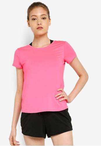 LC Waikiki 粉紅色 圓領T恤 6C409AA36776A6GS_1