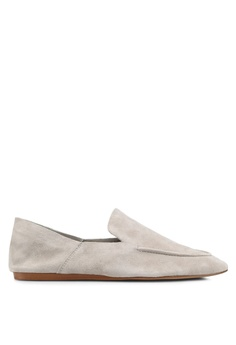 Mango grey Leather Moccasin 72E57SHD527170GS_1