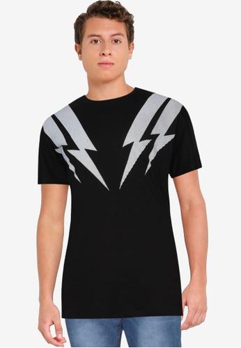 Fidelio 黑色 Lightning 印花T恤 61785AA7F5FF46GS_1
