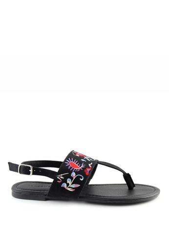 London Rag black London Rag Womens Black Flats Sandals SH1402 LO360SH0GYIASG_1