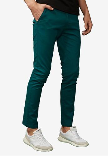 韓版修身。百搭彈力多色長褲-02314esprit taiwan-綠色, 服飾, 直筒褲