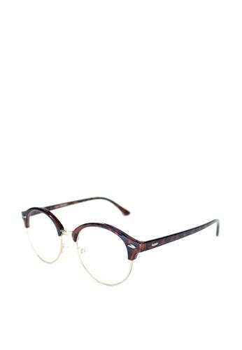 Peculiar and Odd brown Premium Round Clubmaster Eyeglass 4246 PE789GL0JP59PH_1