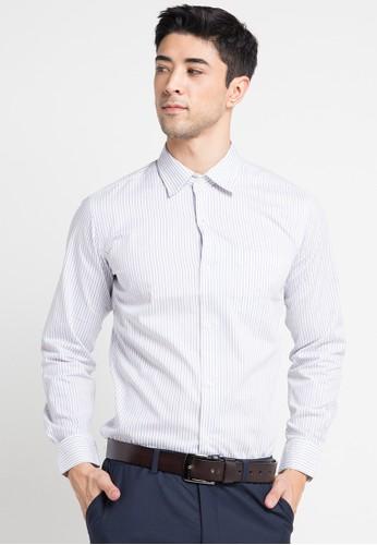 GQ MEN'S WEAR white Modern Fit Long Sleeve Shirt GQ410AA0V5FWID_1