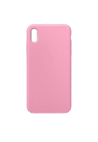 MobileHub pink iPhone XS Soft Silicone Case Rubberized Finish 81143ACC12A7EAGS_1